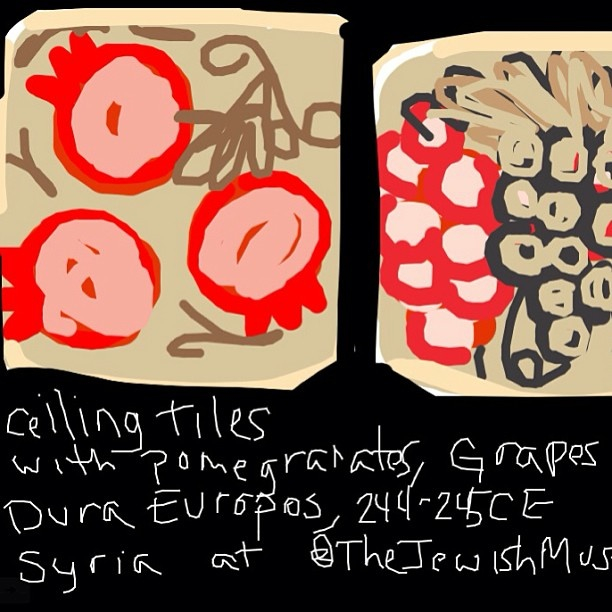 Ceiling Tiles, 3-5th C., Dura Europos Synagogue, Syria at @TheJewishMuseum