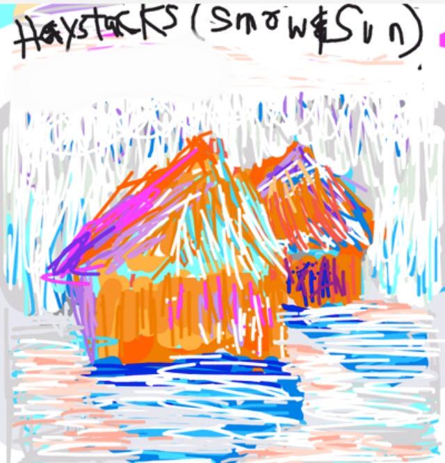 Haystacks (in Snow & Sun). Claude Monet, 1891 at @MetMuseum