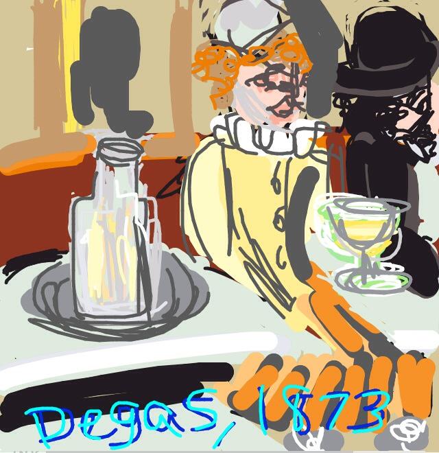 In a Café, or Absinthe, Edgar Degas. 1873, Paris at @MuseeOrsay