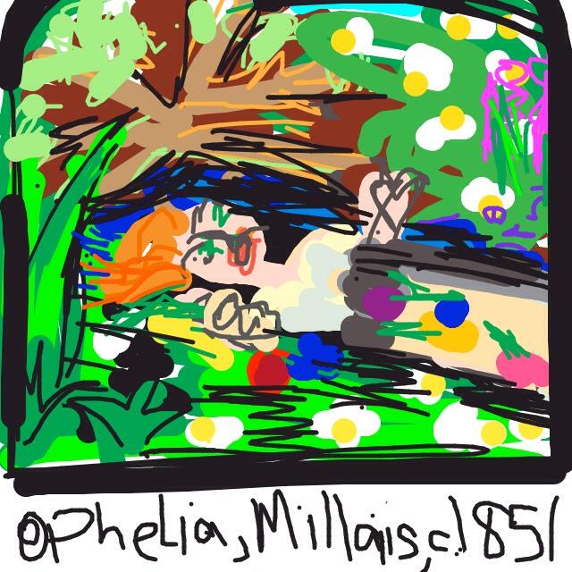 Ophelia, Sir John Everett Millais, 1851-2 at @Tate