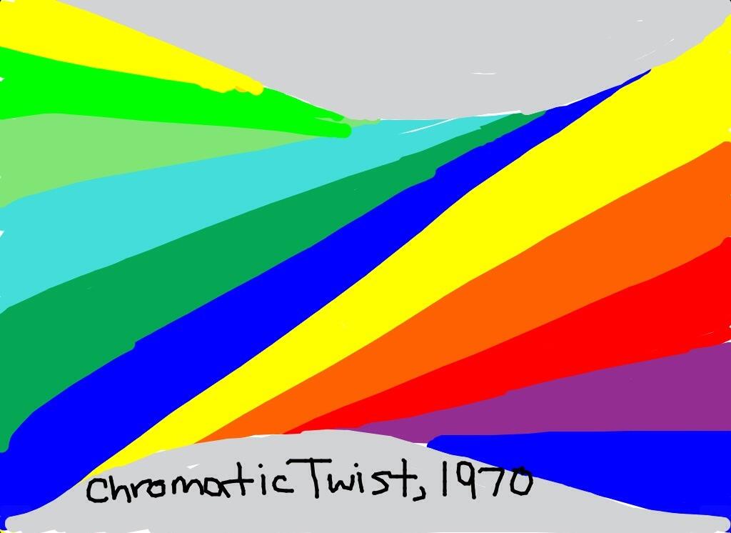 Chromatic Twist, Herbert Bayer, 1970 at @Tate