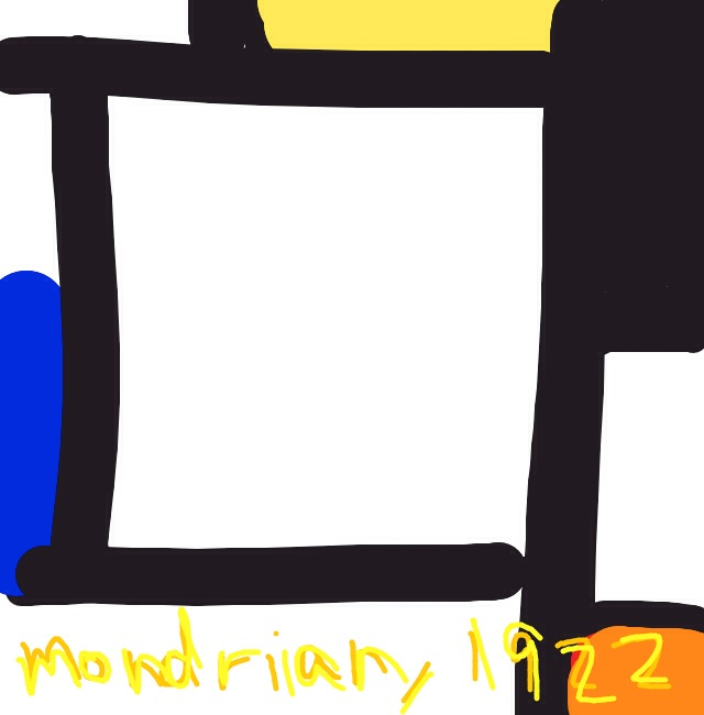 Tableau 2, Piet Mondrian, 1922 at @Guggenheim