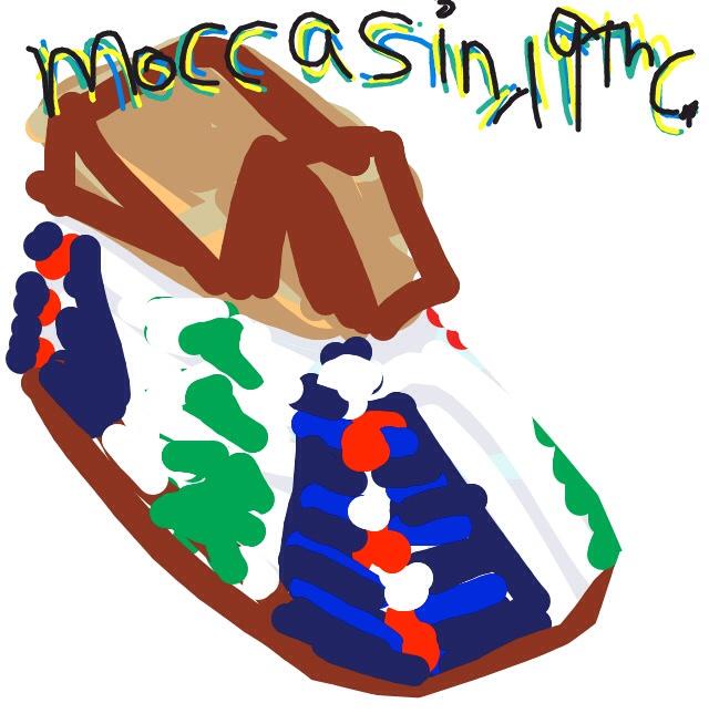 Moccasin, Lakota or Cheyenne, Late 19th C. at @BataShoeMuseum