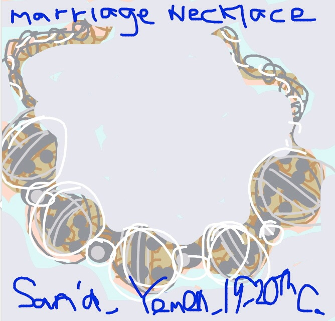 Marriage Necklace Beads San'a (Yemen), late 19th-early 20th C. at @TheJewishMuseum