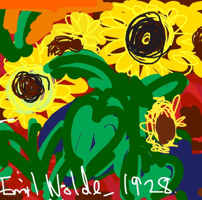 Large Sunflowers, Emil Nolde, 1928 at @MetMuseum