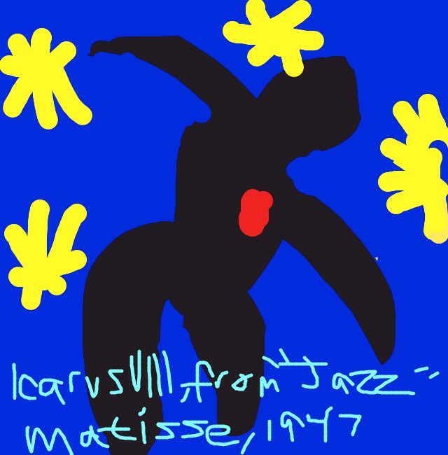 Icarus VIII from the book Jazz, Henri Matisse, 1947 at @MuseumModernArt