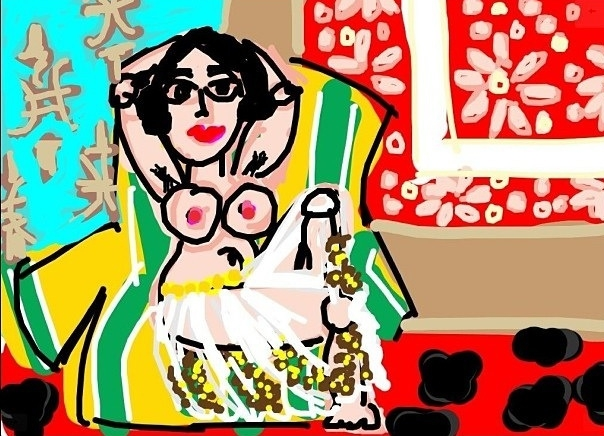 Odalisque with Raised Arms, Henri Matisse, 1923 at @ngadc