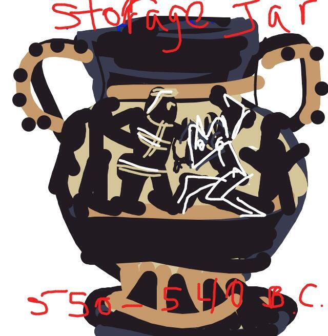 Storage Jar (w Minotaur), Greek, 550-540 BC at @GettyMuseum