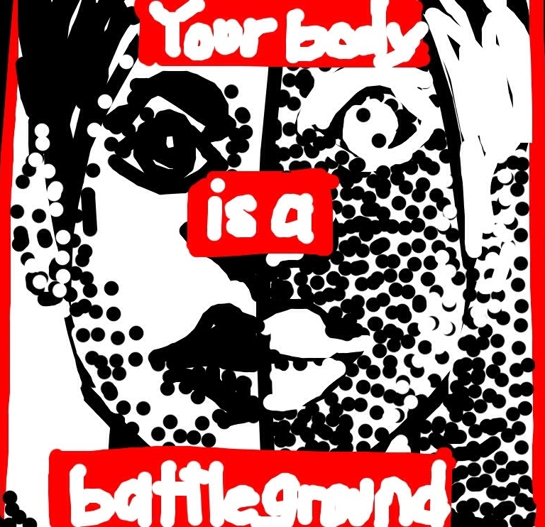 Untitled (Your Body is a Battlefield), Barbara Kruger, 1989 at @TheBroad
