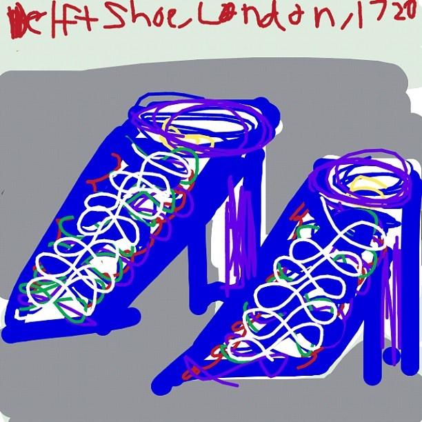 Delft Shoe, London, 1720 at @artsmia