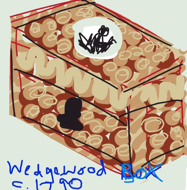 Writing box with Wedgwood abolitionist medallion. William Hackwood, Wedgwood. c. 1790, England at @artsmia