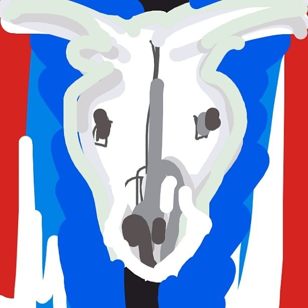 Cow's Skull: Red, White, and Blue, Georgia O'Keeffe, 1931 at @metmuseum