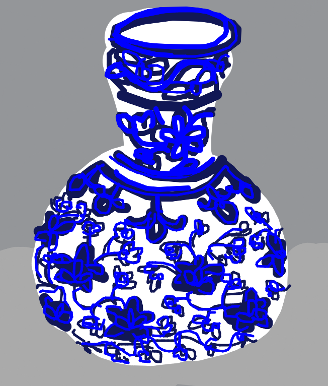 Bottle-shaped Vase, Chinese, Ming dynasty, early 15th C.