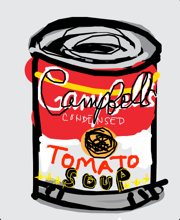 Campbell's Soup Can (Tomato)' Andy Warhol, 1965