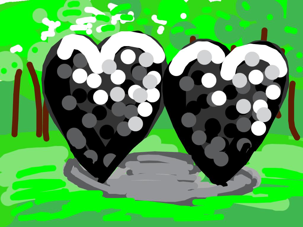 Two Big Black Hearts, Jim Dine, 1985