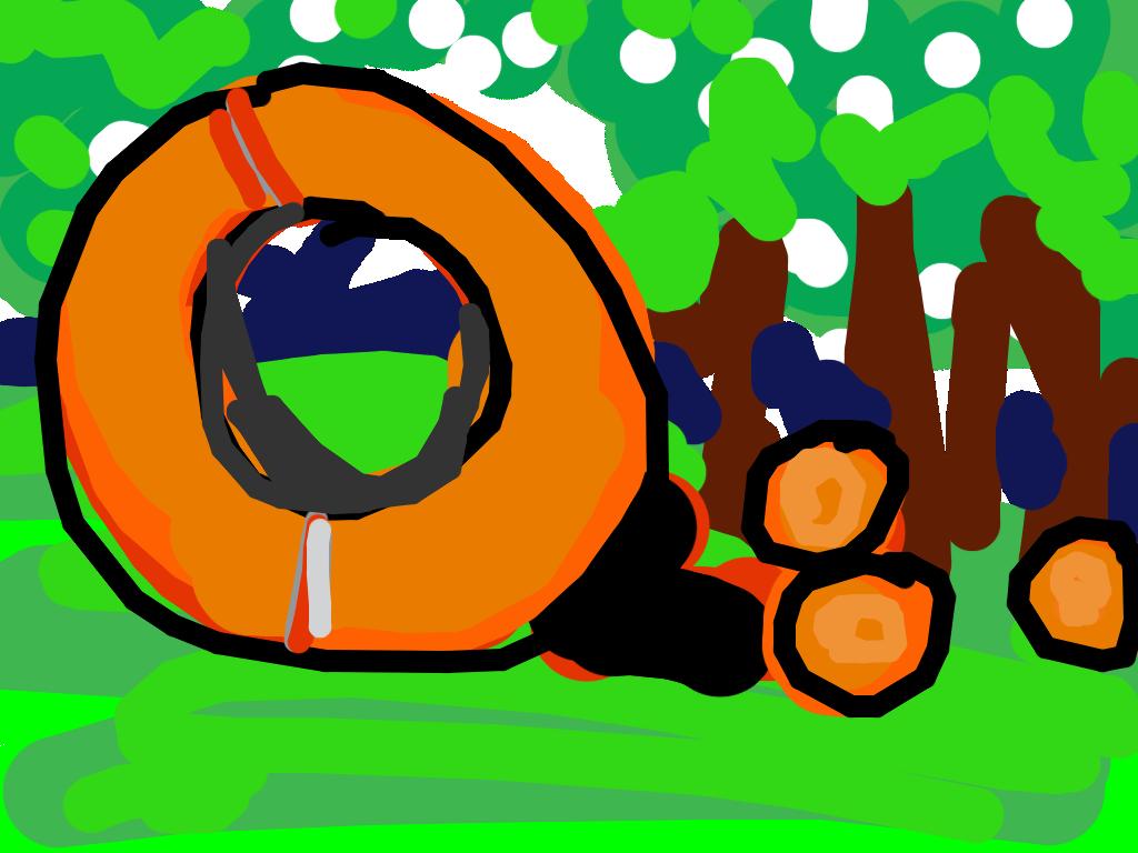 Donut with 3 Balls, Fletcher Benton, 2002