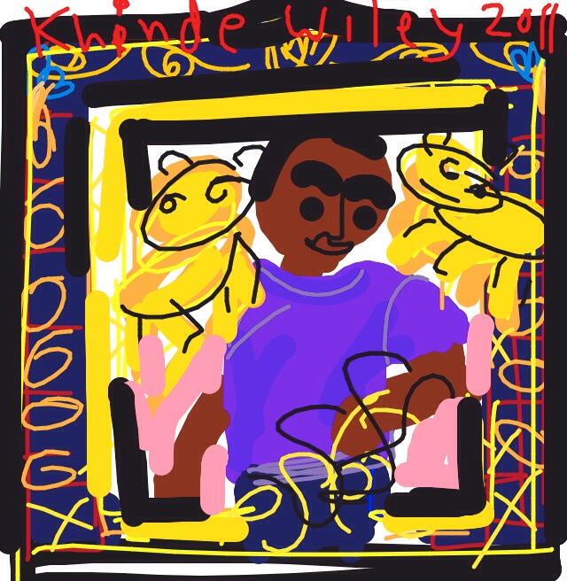Alios Izhak, Kehinde Wiley, 2011 at @TheJewishMuseum