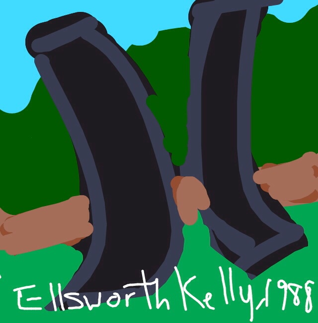 Double Curve, Ellsworth Kelly, 1988 at @walkerartcenter
