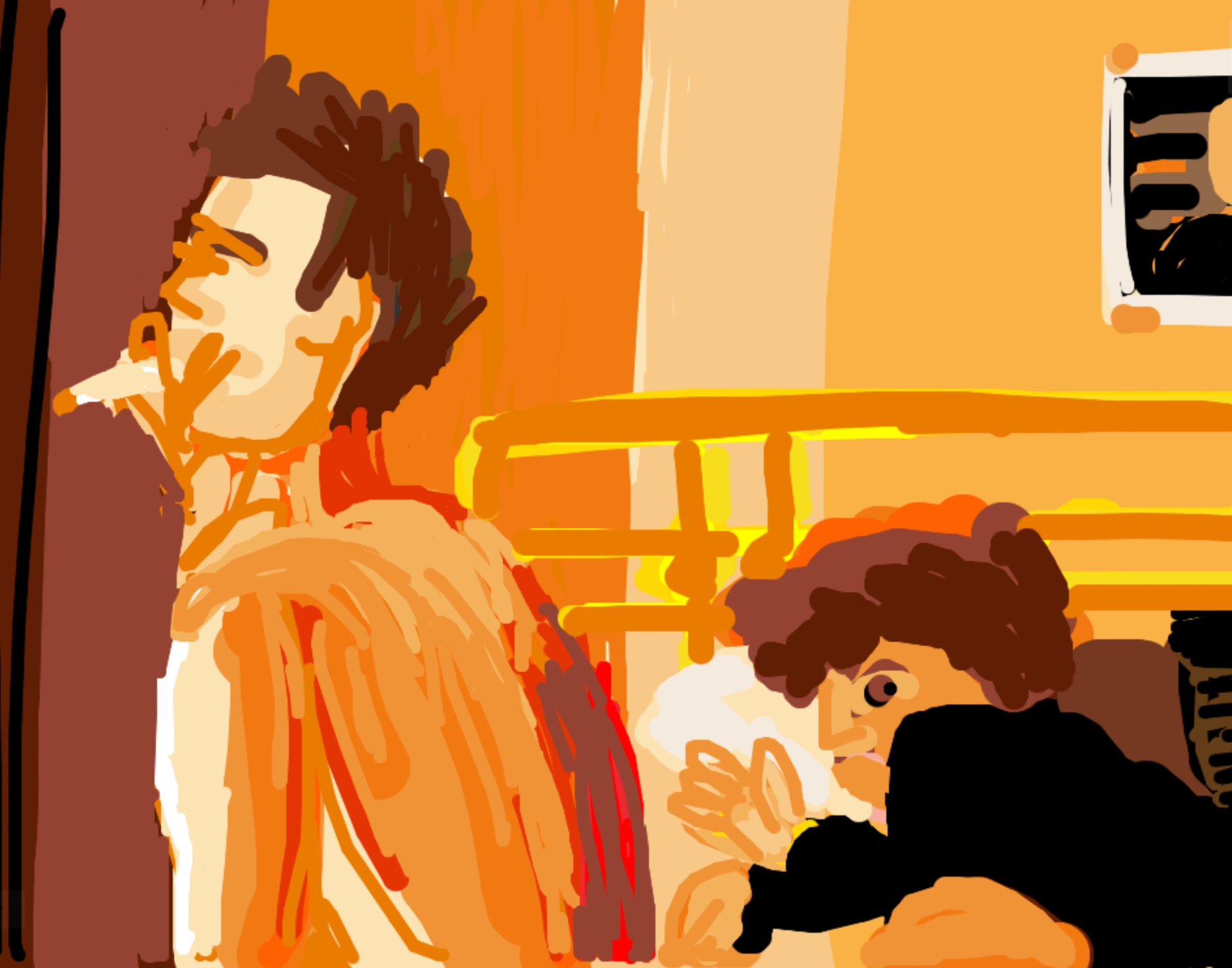 MuseumDraw of Nan Golden's   Nan & Brian in Bed, NYC 1983  , From   The Ballad of Sexual Dependency.