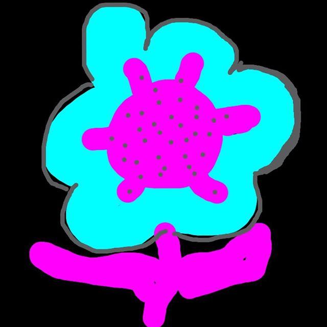 Drawing of Purple Flower #domesticviolence #domesticviolenceawareness #domesticabuse #purpleflowersurvivors #artpurpleflower
