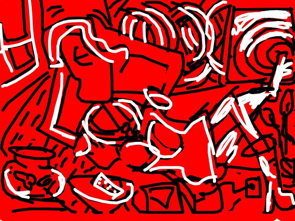 Red Room, Keith Haring, 1988 at @TheBroad
