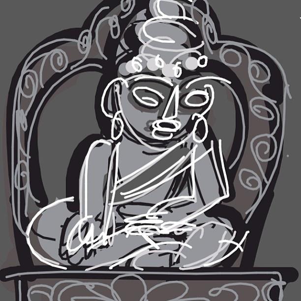 Seated Buddha, Nepal, 16-17th C.