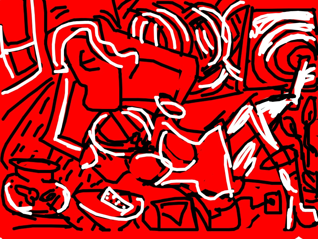 Red Room, Keith Haring, 1988