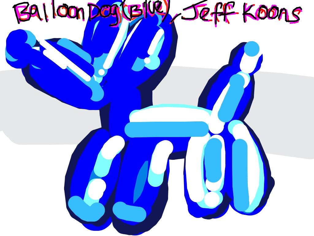 Balloon Dog (Blue), Jeff Koons, 1994-2000