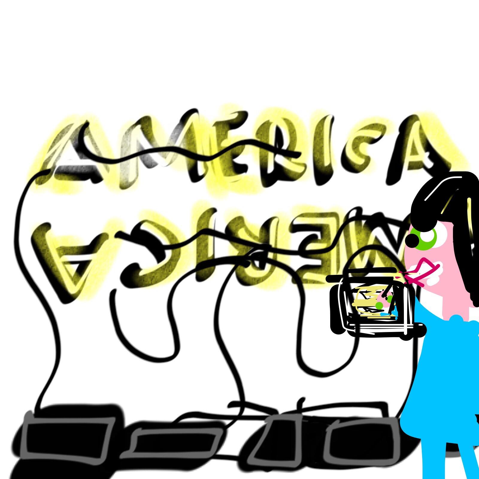 Museum Selfie with Double America, Glenn Ligon, 2014