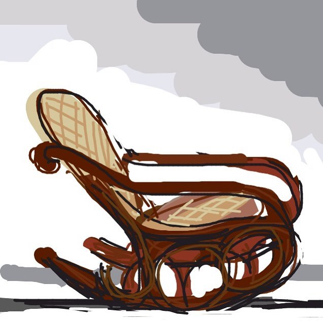 "Rocking Chair, ""No. 4"", Thonet Brothers, c. 1860 at @Cooper Hewitt -- Learn more: https://collection.cooperhewitt.org/objects/18467803/ #museumdraw #thonetchair #cooperhewitt"
