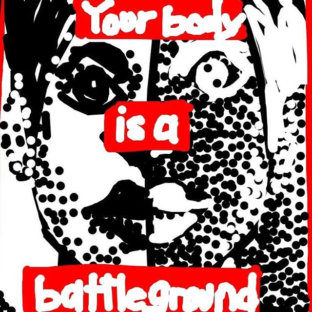 Untitled (Your Body is a Battlefield), Barbara Kruger, 1989 at @TheBroad -- Learn more: http://broadartfoundation.org/artist_43.html #museumdraw #museumdrawLA #thebroad #barbarakruger