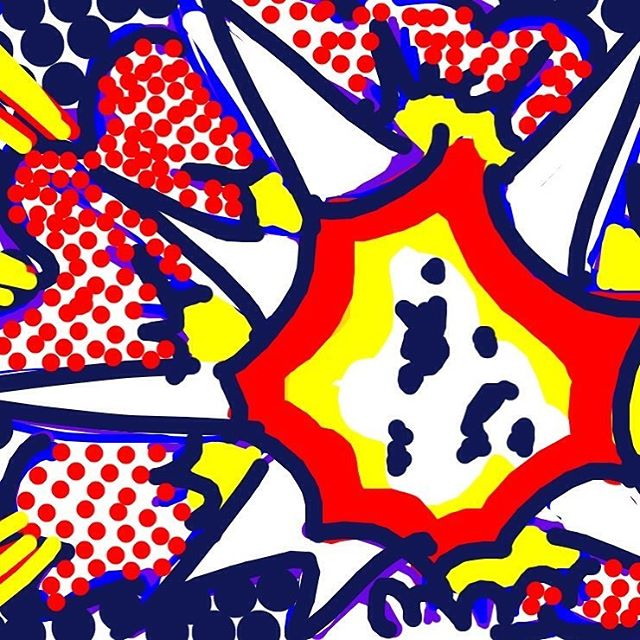 Explosion, Roy Lichtenstein, 1965-6 at @Tate -- Learn more: http://www.tate.org.uk/art/artworks/lichtenstein-explosion-p01796 #museumdraw