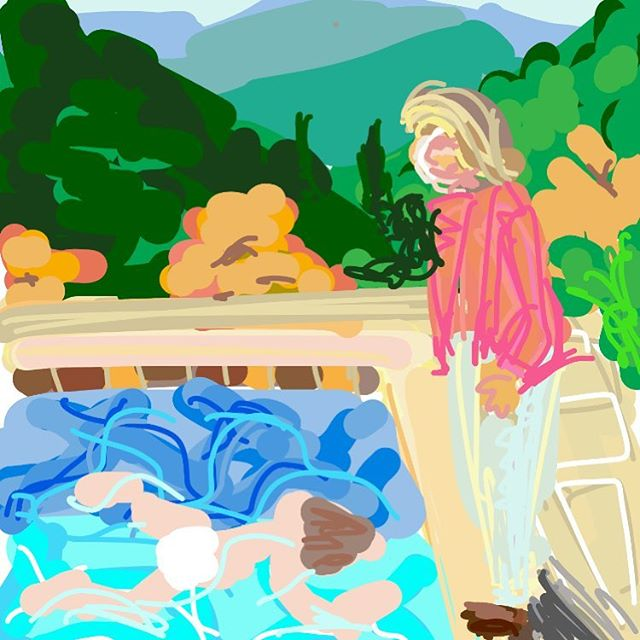 Portrait of an Artist (Pool with Two Figures), David Hockney, 1972 #museumdraw #davidhockney