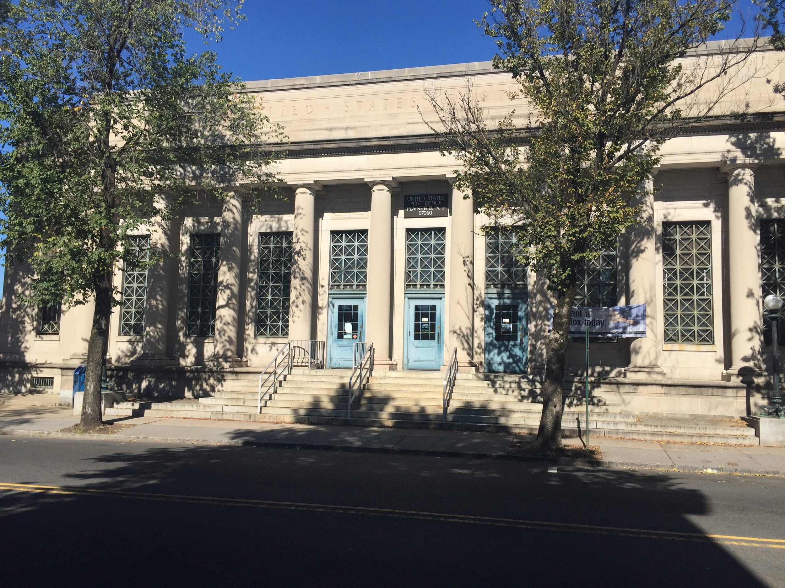 Plainfield Post Office | 201-221 Watchung Avenue | Built 1916 | Neoclassical Revival