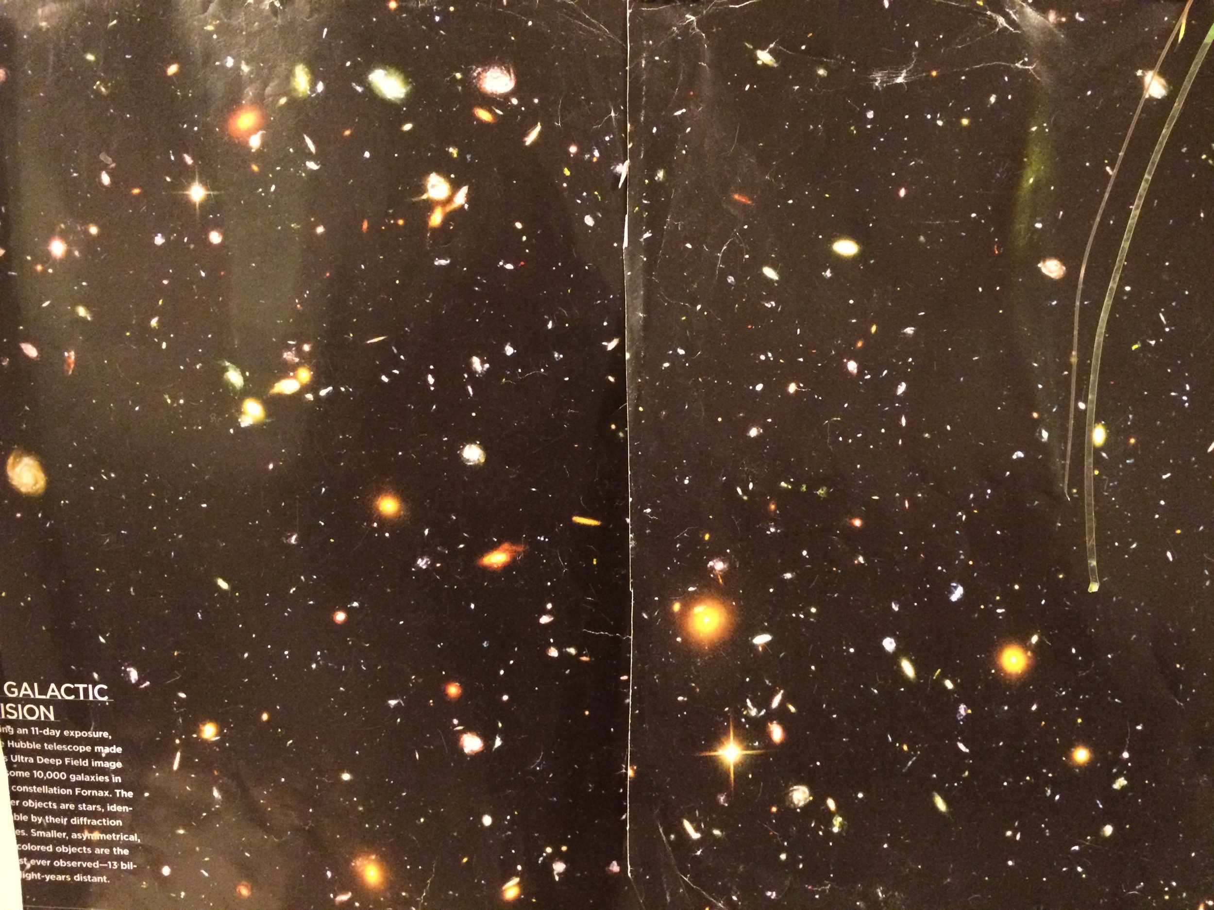 Hubble Ultra Deep Field Image. 10,000 plus galaxies in one tiny point in the sky.