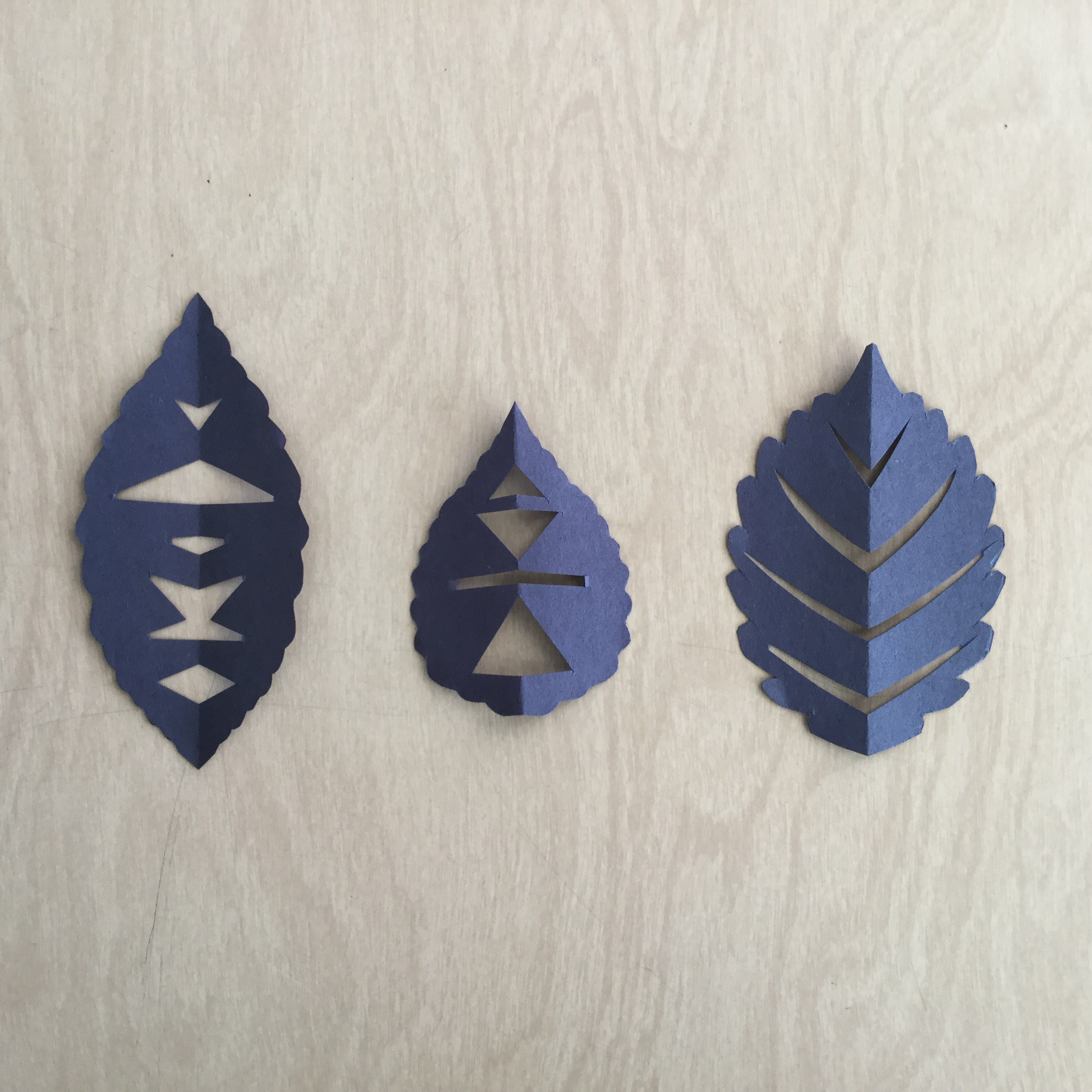 Paper leaves designed by student ready to be transformed by technology