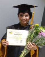 Rocio at her graduation   ceremony
