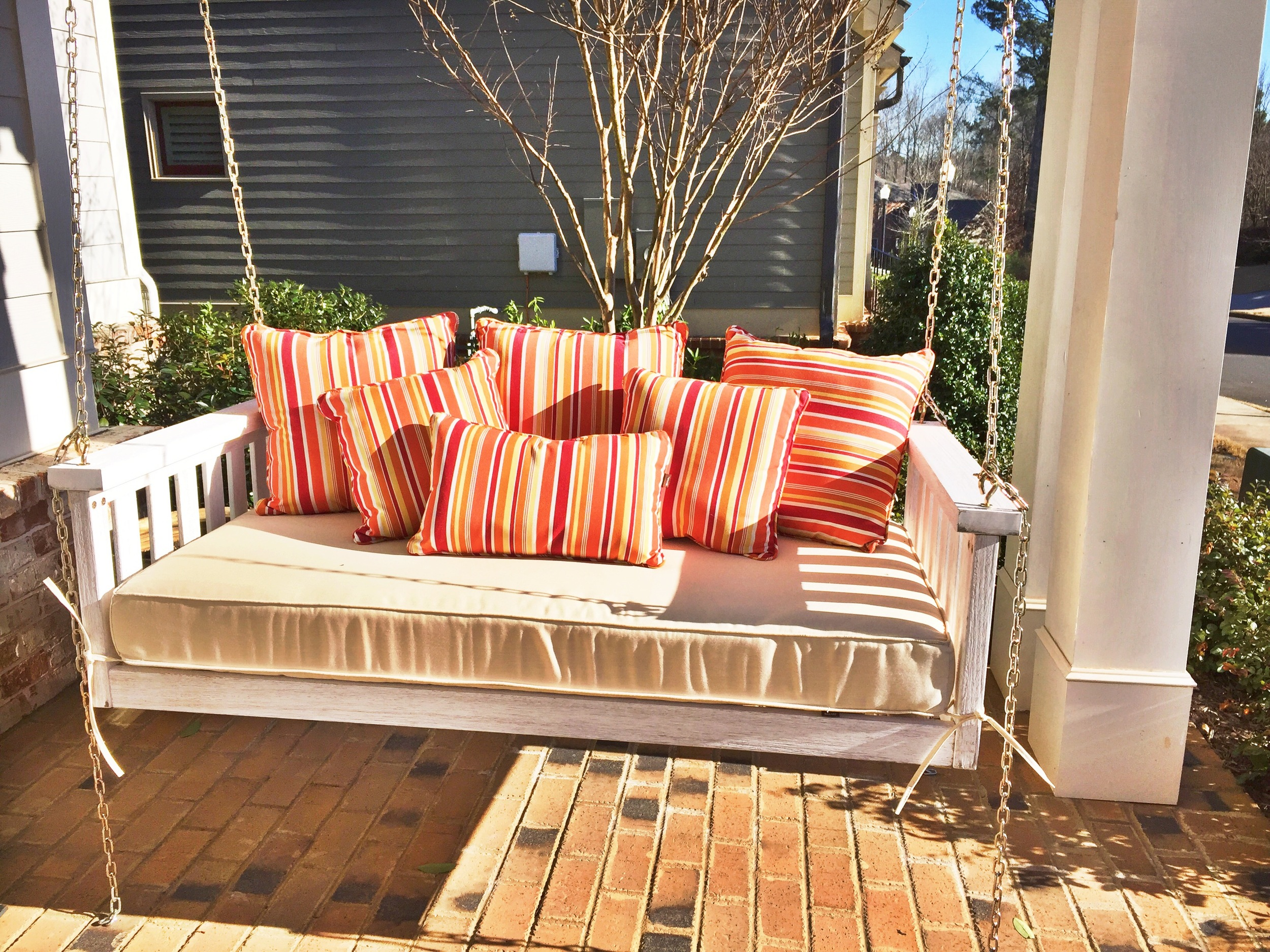 Join me on my new front porch swing soon...(Ballard's Outlet at 70% off)