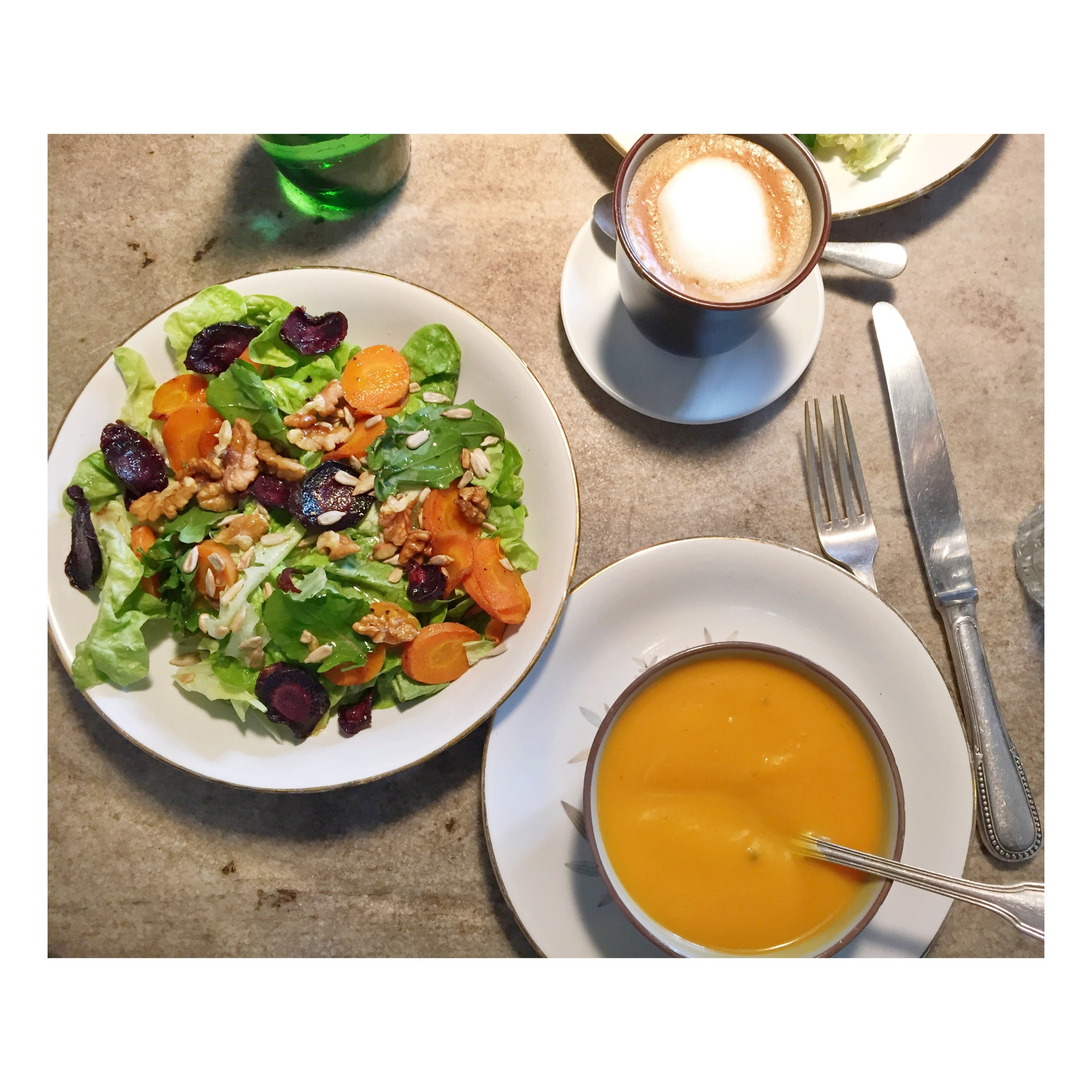 salad and soup