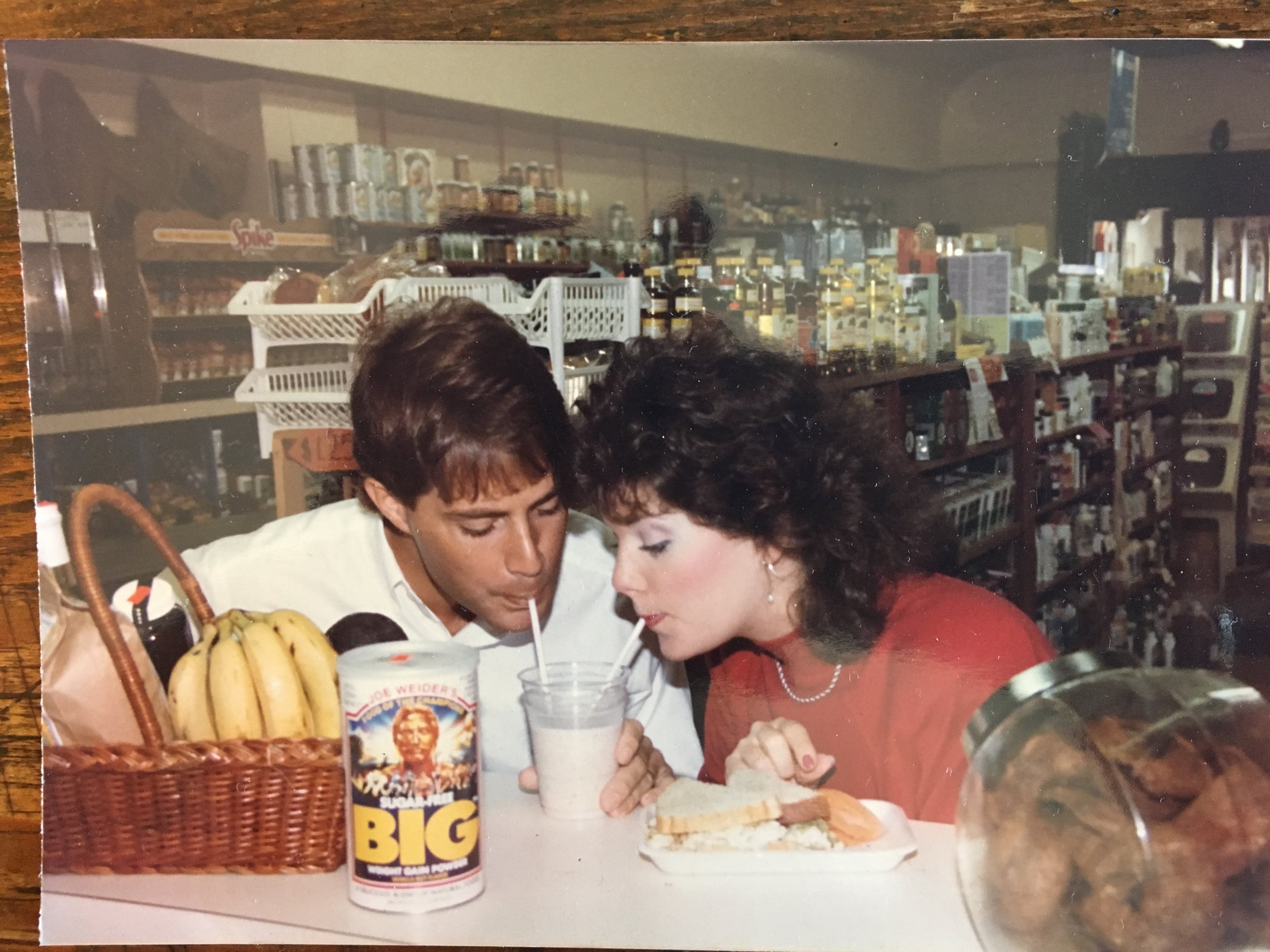 Old photo from the Health Food Store on Hilton Head in 1986.