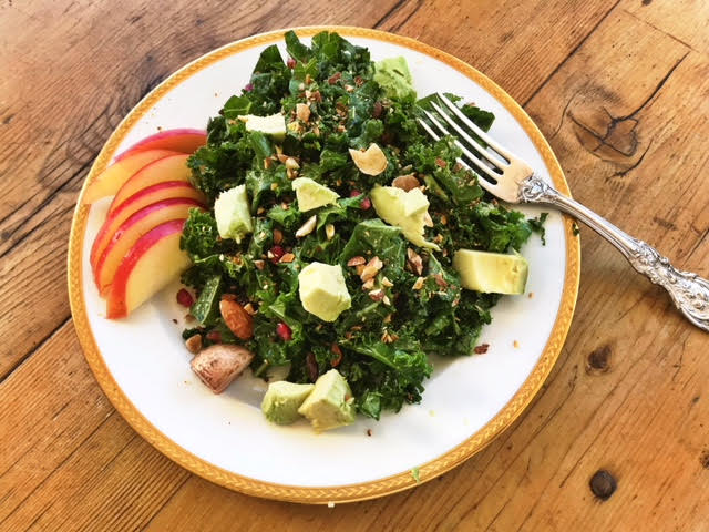 kale salad plate