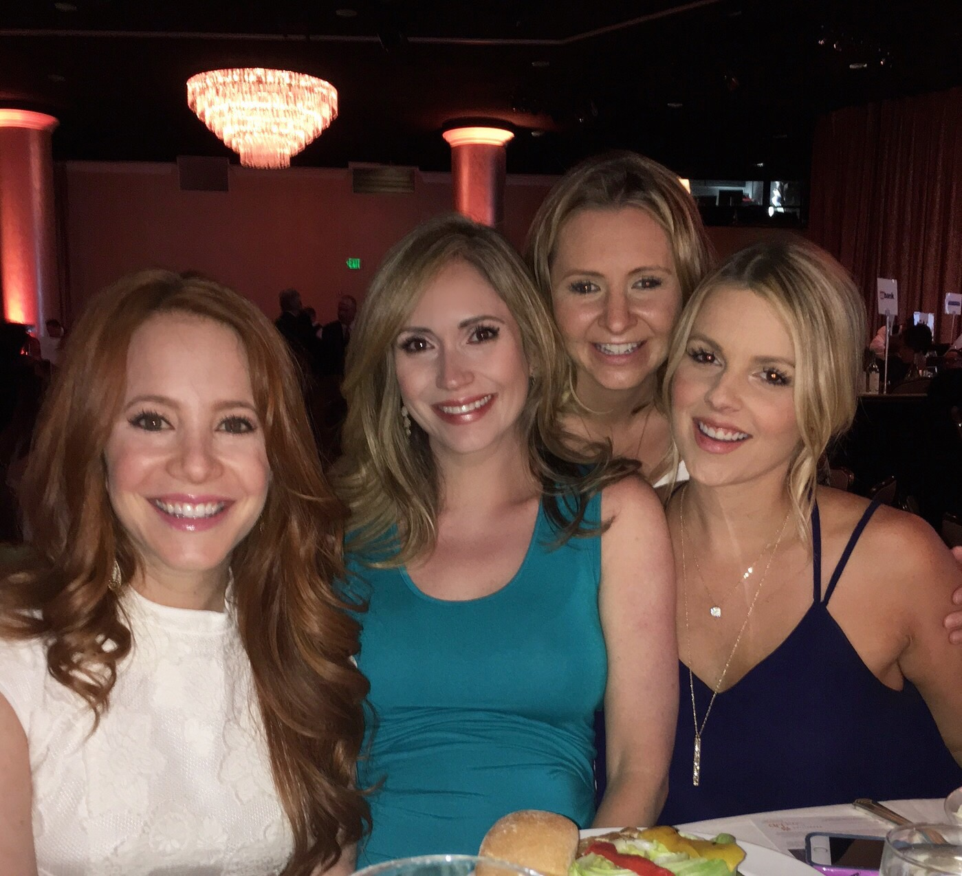 Amy Davidson, me, Beverley mitchell, and Ali Fedotowsky at the awards show,