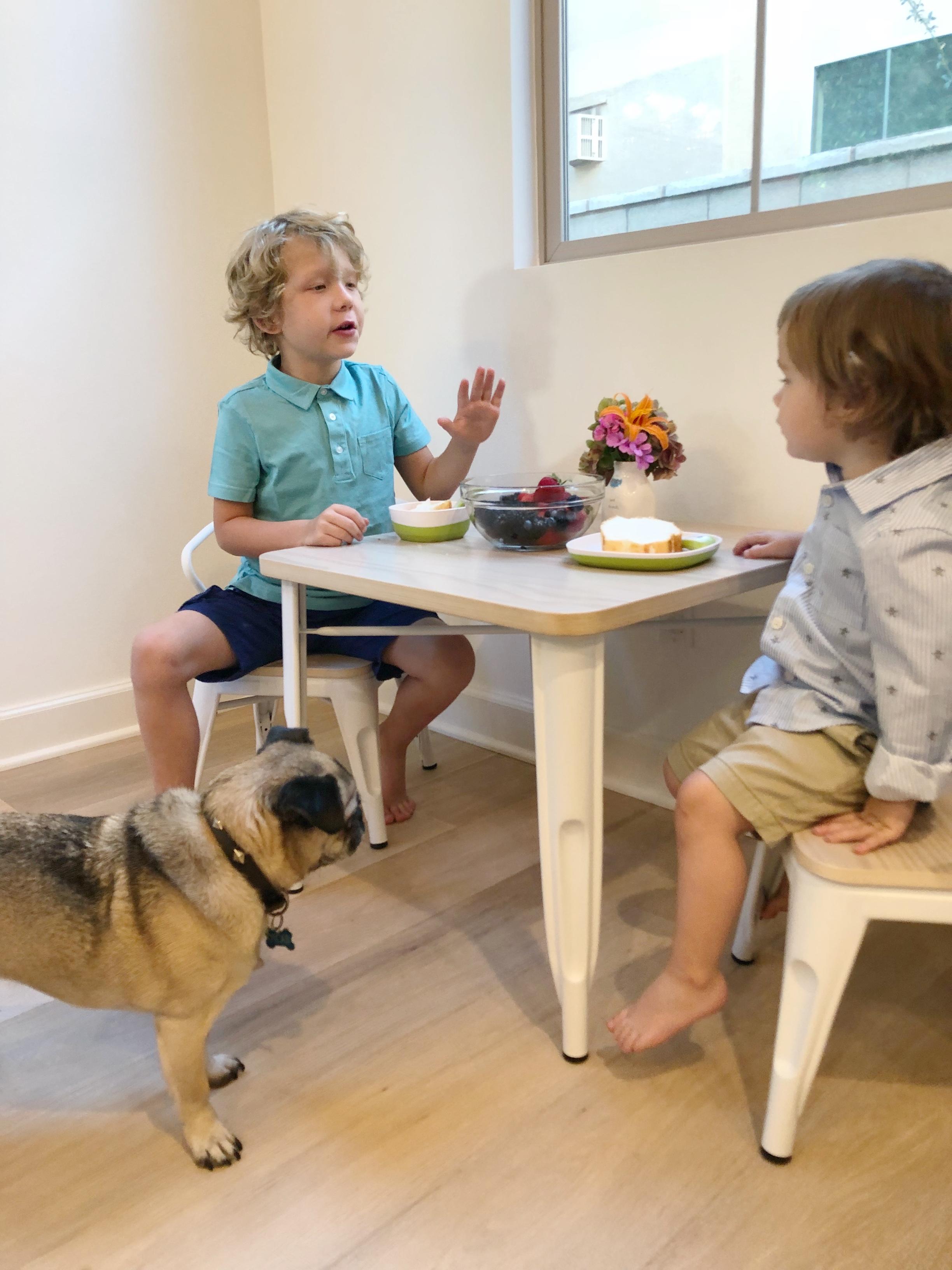 Huck and Hayden table