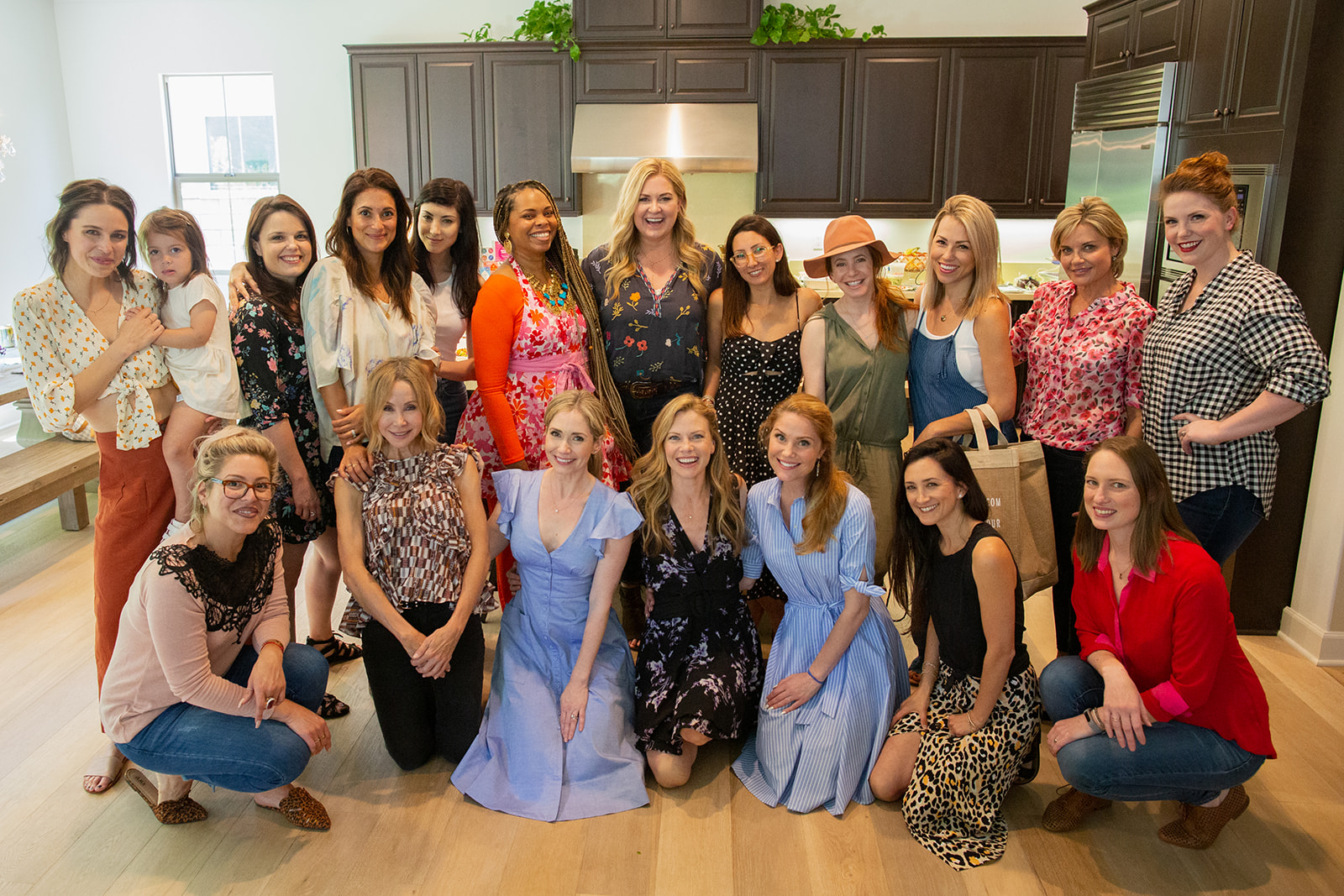 Top Row: Kaitlyn Villasuso and daughter, Kimberly J Brown, Angelique Cabral, Briana Cuoco, Chef Ameera, Amy Lacey, Chrissy Kling, Amy Davidson, Jessica Hall, Karen (Lisa's friend), Caitlin Brandes (Friend of Jessica's). Bottom Row: Kaylene DeVries, Lisa Breckenridge, me, Sarah Jane Morris, Virginia Williams, Nicole Levine, Casey Henricks.