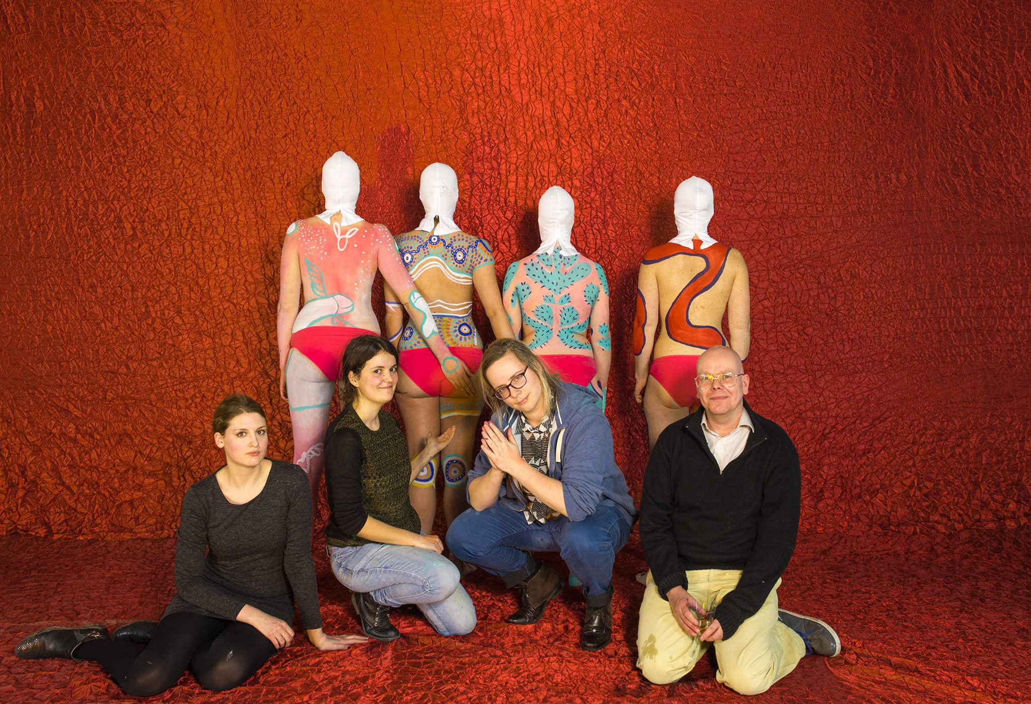 Bodypaint artists for 'The Party Pops' aka 'The weirdest photo you'll see today'.
