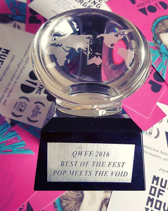 #popmeetsthevoid wins best of the fest at #queensworldfilmfestival #qwff2016 !! thank you to the catos, the festival associates and all the challenging, #beautiful films in the most diverse #filmfestival in #nyc  #indiefilm #independentfilm #animation #vfx #surreal #glitch #nyc #award #film #filmmaker