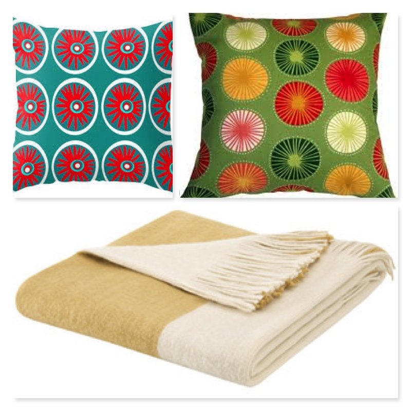 Pillows , blankets and more pillows! - The use of colorful bright pillows and an outdoor throw blanket, adds style and gives a comfy feel to an otherwise boring outdoor sitting area.