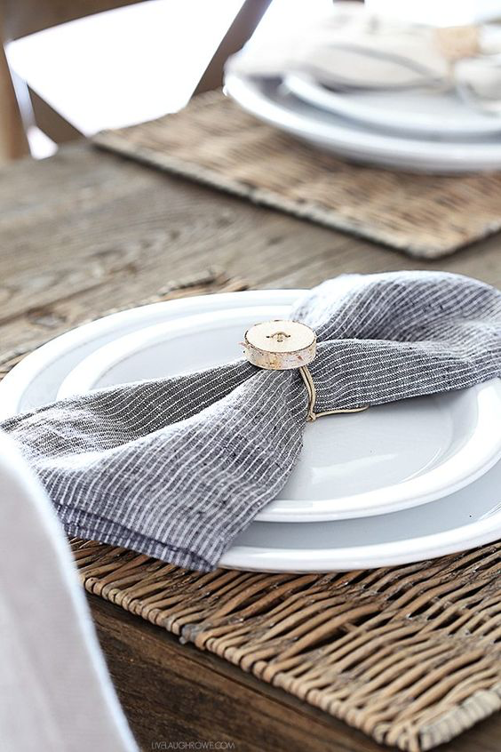 - And last but not least, decorating the table with a beautiful table setting and napkins really is the icing on top of the cake. It's not a staging necessity, but it really does help.