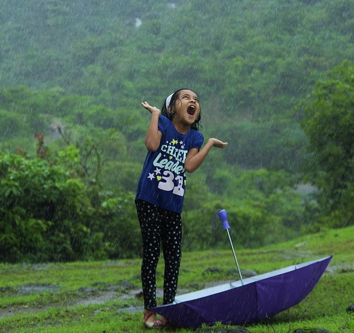 Enjoy the rain! Photo by Niharikaarun