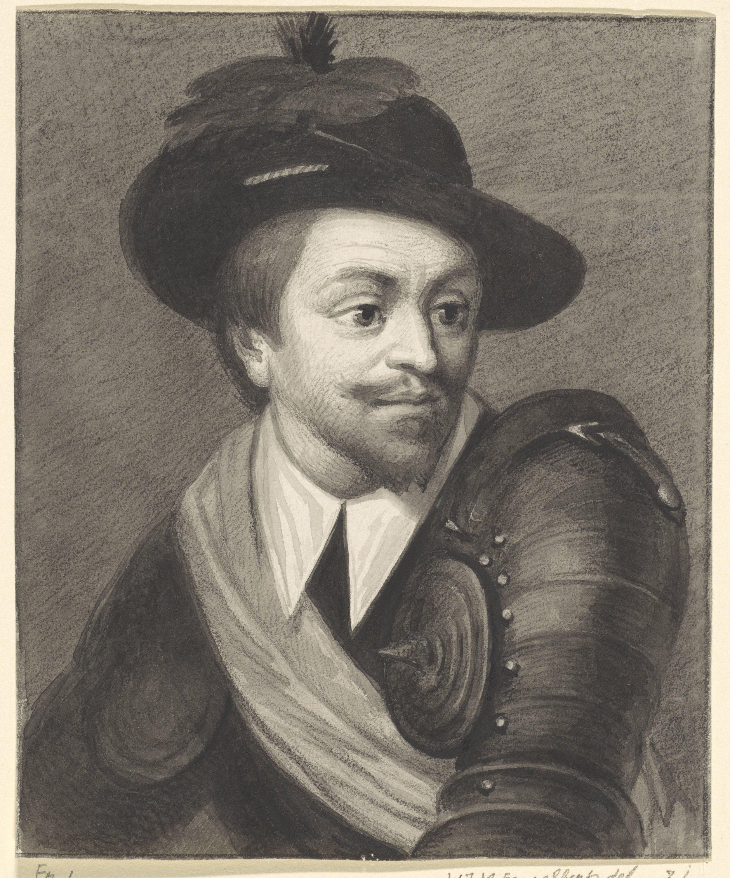 Portret van Adolf, graaf van Nassau, Willem Jodocus Mattheus Engelberts, 1809 - 1871